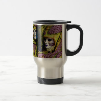 Colorful Venetian Couple Travel Mug