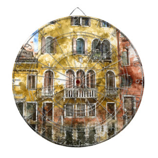 Colorful Venice Italy Buildings Dart Board