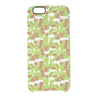 Colorful Venus Flytrap Pattern Clear iPhone 6/6S Case
