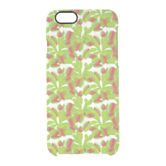 Colorful Venus Flytrap Pattern Uncommon Clearly™ Deflector iPhone 6 Case
