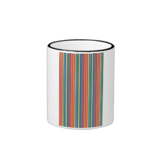 Colorful Vertical Line Pattern Mug
