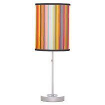 Colorful Vertical Stripes Pattern Table Lamp