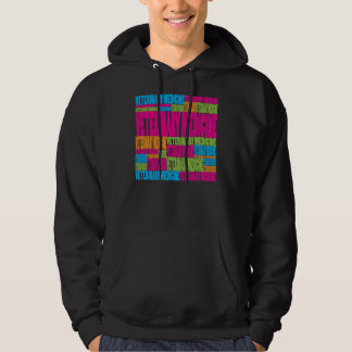 Colorful Veterinary Medicine Hooded Pullover