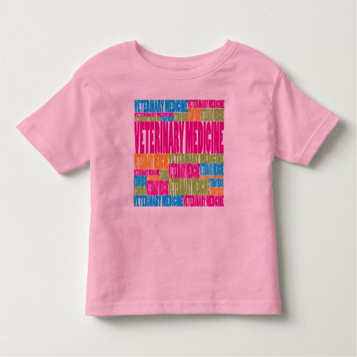 Colorful Veterinary Medicine Tees