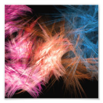 colorful vibrant abstract wall art