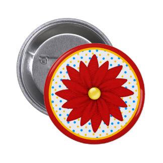 Colorful Vibrant Flower Button