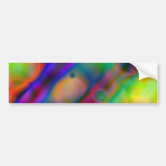 Colorful vibrant shapes (1) bumper sticker