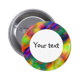 Colorful vibrant shapes (1) pinback button