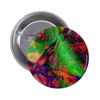 Colorful vibrant shapes (2) pinback button