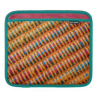 Colorful Vibrant Woven Threads Photo Print Sleeve For iPads