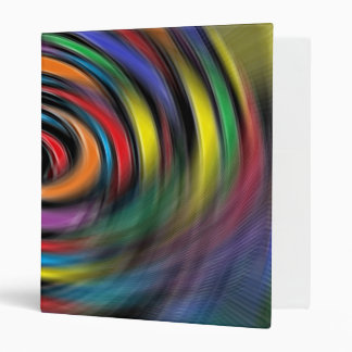 Colorful Vibrations 3 Ring Binder