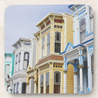 colorful Victorian home in Mission District Drink Coaster