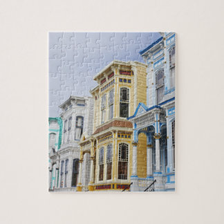 colorful Victorian home in Mission District Jigsaw Puzzle