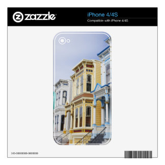 colorful Victorian home in Mission District Skins For The iPhone 4