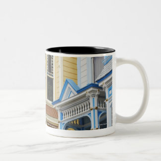 colorful Victorian home in Mission District Two-Tone Coffee Mug