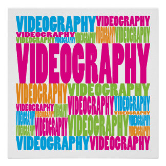 Colorful Videography Poster