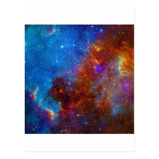 Colorful View of the North American Nebula Postcard
