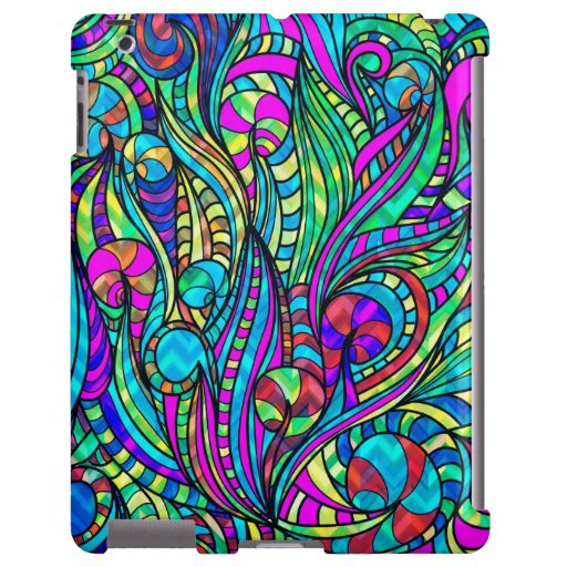 Colorful Vintage Abstract Floral Swirls Collage 2