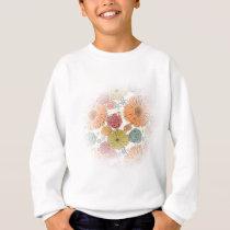 Colorful vintage abstract spring flowers sweatshirt