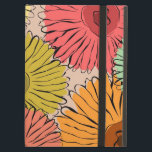 "Colorful vintage abstract sunflower iPad air case<br><div class=""desc"">Gorgeous design featuring retro style,  freehand drawing of sunflowers  in warm colors on a light background. Modern and retro pattern in orange,  red,  turquoise,  green and yellow. Elegant and stylish gift for every woman.</div>"