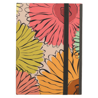 Colorful vintage abstract sunflower iPad air case