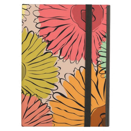 Colorful vintage abstract sunflower iPad folio cases