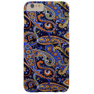 Colorful VIntage Blue and Orange Paisley Pattern Barely There iPhone 6 Plus Case