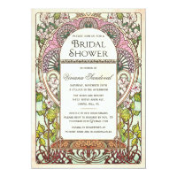 Colorful Vintage Bridal Shower Invitations