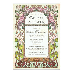Good Colorful Vintage Bridal Shower Invitations