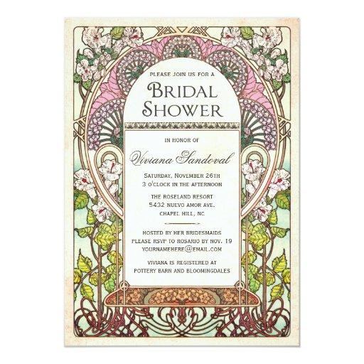 Colorful vintage bridal shower invitations zazzle for Classic bridal shower invitations