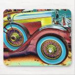 colorful vintage car mousepads