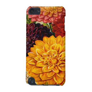 Colorful Vintage Dahlia Flowers iPod Touch (5th Generation) Cover