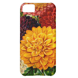Colorful Vintage Dahlia Flowers iPhone 5C Cover