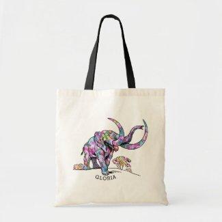 Colorful Vintage Elephant Illustration