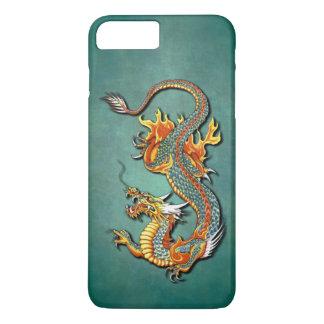 Colorful Vintage Fantasy Fire Dragon Tattoo Art iPhone 8 Plus/7 Plus Case