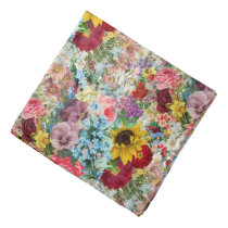 Colorful Vintage Floral Bandana
