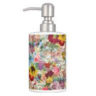 Colorful Vintage Floral Liquid Soap Dispenser