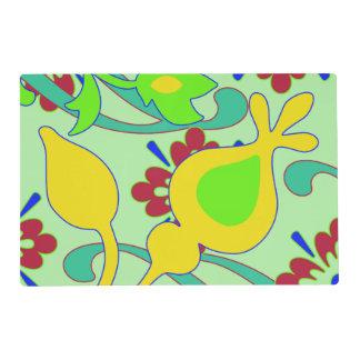 Colorful Vintage Floral Design Placemat