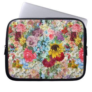 Colorful Vintage Floral Laptop Sleeve