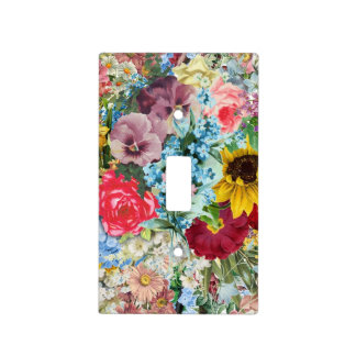 Colorful Vintage Floral Light Switch Cover