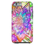 Colorful Vintage Floral Pattern Drawing Watercolor Tough iPhone 6 Case