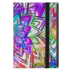 Colorful Vintage Floral Pattern Drawing Watercolor Ipad Mini Case at Zazzle