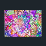 """Colorful Vintage Floral Pattern Drawing Watercolor iPad Mini Case<br><div class=""""desc"""">a cool,  bright flowers drawing pattern featuring psychedelic neon color,  pink,  yellow,  blue,  purple watercolor and tie dye effect on the flowers and petals with paisley,  chevron and stripes pattern. a trendy floral drawing with a girly touch. Get this,  for a fresh summer!</div>"""