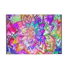 Colorful Vintage Floral Pattern Drawing Watercolor iPad Mini Case