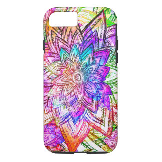 Colorful Vintage Floral Pattern Drawing Watercolor iPhone 7 Case