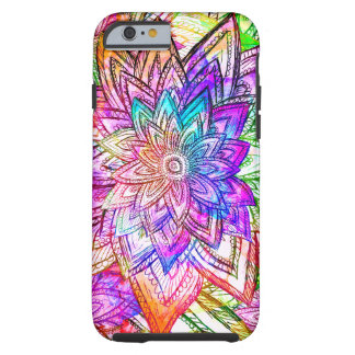 Colorful Vintage Floral Pattern Drawing Watercolor iPhone 6 Case