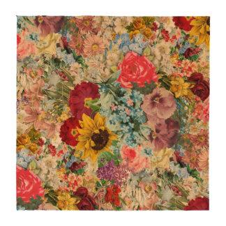 Colorful Vintage Floral Drink Coasters