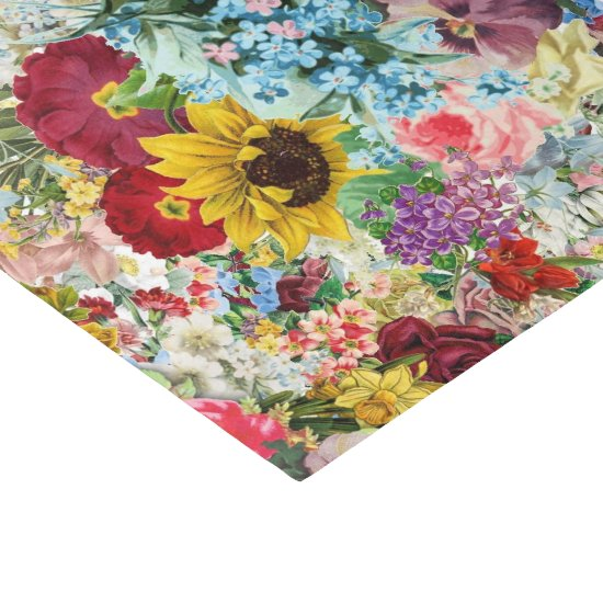 Colorful Vintage Floral tissue paper
