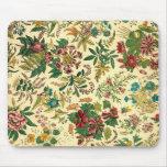 Colorful Vintage Garden Floral Mouse Pads