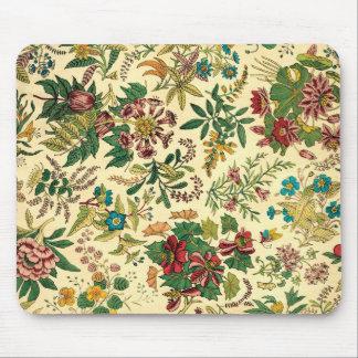 Colorful Vintage Garden Floral Mouse Pad